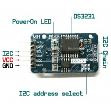 DS3231 Precise Real time clock with 24C32 32K memory I2C for arduino RasPberry