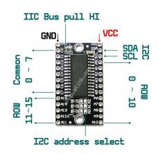HT16K33 8x16 Dot-Matrix Driver I2C Interface for LED Cube Arduino RasPberry
