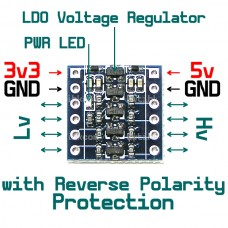 4-channel 5v 3v Bi-Directional Logic Level Shifter with Reverse Polarity Protect