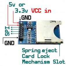 MMC/SD Card Slot board Module DC3.3v or 5v SPI Interface Arduino Raspberry MCU