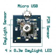 PIR Motion Detect + DayLight Control LED Light Bulb Smart Home Automation