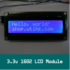 3.3v 1602 LCD White on Blue HD44780 Compatible for I2C BackPack AVR Arduino