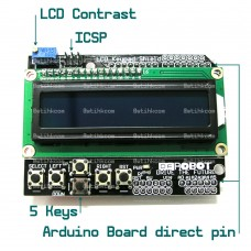 1602 White on Blue LCD KeyPad Shield Arduino