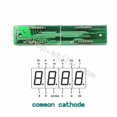 "HT16K33 8-Digit 7 Segment 0.54"" Numeric LED I2C Interface Arduino Raspberry - Socket"