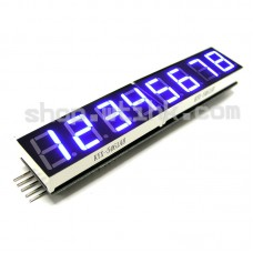 "HT16K33 8-Digit 7 Segment 0.54"" Numeric LED I2C Interface Arduino Raspberry - BLUE"