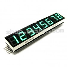 "HT16K33 8-Digit 7 Segment 0.54"" Numeric LED I2C Interface Arduino Raspberry - BrightGREEN"