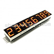 "HT16K33 8-Digit 7 Segment 0.54"" Numeric LED I2C Interface Arduino Raspberry - RED"