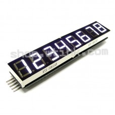 "HT16K33 8-Digit 7 Segment 0.54"" Numeric LED I2C Interface Arduino Raspberry - WHITE"