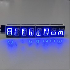 "HT16K33 AlphaNumeric 0.54"" 8-Digit 14 Segment LED I2C Interface ArdiunoRaspberry - BLUE"