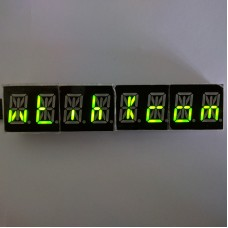 "HT16K33 AlphaNumeric 0.54"" 8-Digit 14 Segment LED I2C Interface ArdiunoRaspberry - YellowGreen"