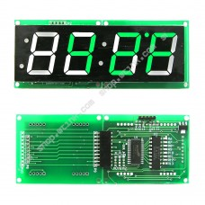 1.2-inch 4-Digit 7-Segment Clock Temperature LED Display I2C HT16K33 - GREEN