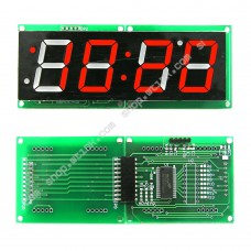 1.2-inch 4-Digit 7-Segment Clock Temperature LED Display I2C HT16K33 - RED