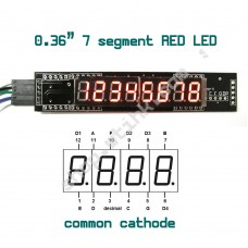 MAX7219 0.36-inch 8-Digit 7-Segment LED Display SPI interface