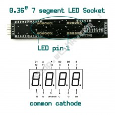 MAX7219 0.36-inch 8-Digit 7-Segment LED Display SPI interface - SOCKET