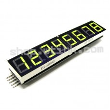 MAX7219 0.56-inch 8-Digit 7-Segment LED Display SPI interface -YellowGREEN