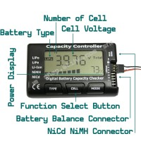 CellMeter-7 LiPo LiFe Li-lon NiCd NiMH Digital Battery Capacity Voltage Checker