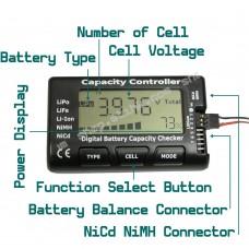 CellMeter-7 LiPo LiFe Li-lon NiCd NiMH Digital Battery Capacity Voltage Checker