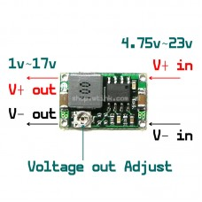 Small Size DC to DC Module Step Down Buck 1.8A Adjustable Convertor