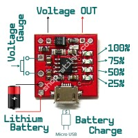 Lipo Battery Power Bank Module 2.1A Charging 2.4A Discharge w/ 4 LED Volt status