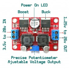 DC to DC Automatic Boost Buck Regulator for Solar Energy