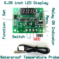 Digital Control Thermostat Relay Switch -50 to 110 deg C Smart Home Automation