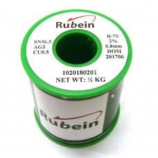 RUBEIN SAC305 Lead Free Solder Wire Tin-96.5% Silver-3% Copper-0.5% 500g 0.8mm Thicknes