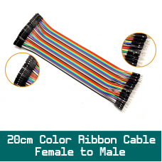 20cm  Dupond 40pin Color Ribbon Cable Female to Male Set for wire up BedBoard Ardiuno