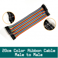 20cm  Dupond 40pin Color Ribbon Cable Male to Male Set for wire up BedBoard Ardiuno