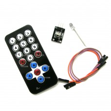 17-Key IR Remote + Receiver Module IRremote for Ardiuno RasPberry Kivy Kiosk